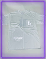 "White Pocket T-Shirt With 3M Reflective ""Legendary Use Only"" and 3M Reflective Logo (Limited Logo Collab)"