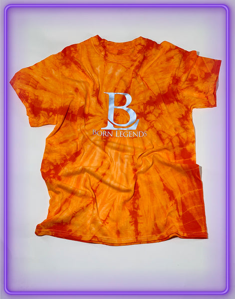 Born Legends Limited Edition 3m Reflective Tie-Dye Orange T-Shirt