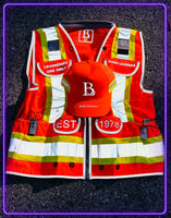 Born Legends Two Tone Orange & 3M Reflective Vest