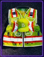 Born Legends Two Tone Green & 3M Reflective Vest