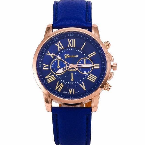 Geneva Blue Chronograph Watch