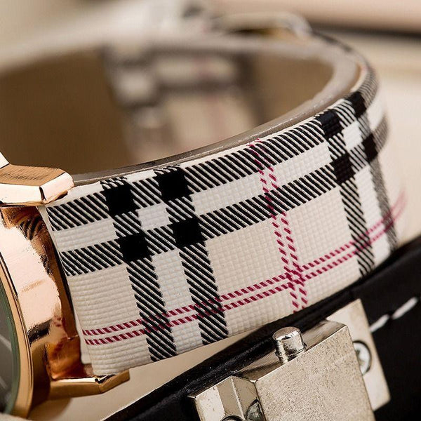 Veneno White Dial Tartan Watch