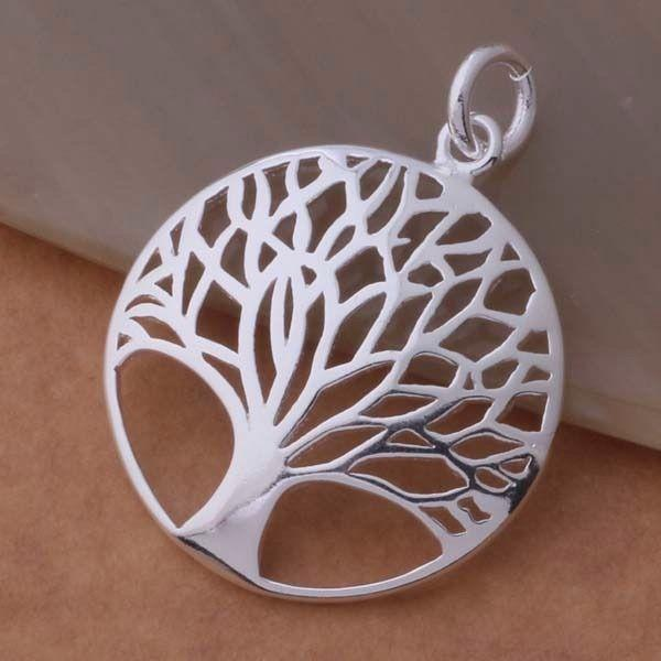 Tree Of Life Silver Plated Pendant Necklace USA Seller Free Shipping