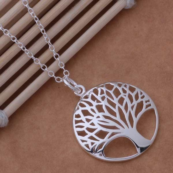 Tree Of Life Silver Plated Pendant Necklace
