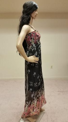 Black Boho Beach Maxi Dress