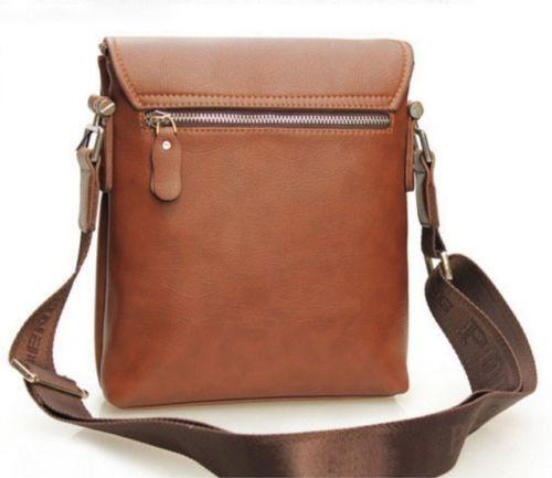 2015 Men 's Brown POLO Casual Leather Shoulder Messenger Bag USA FREE Shipping