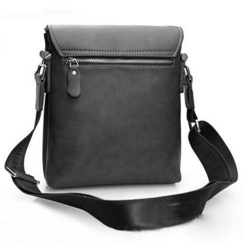 2015 Men 's Black POLO Casual Leather Shoulder Messenger Bag USA FREE Shipping