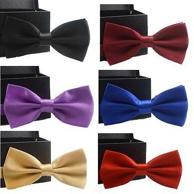 Adjustable Satin Bow Tie