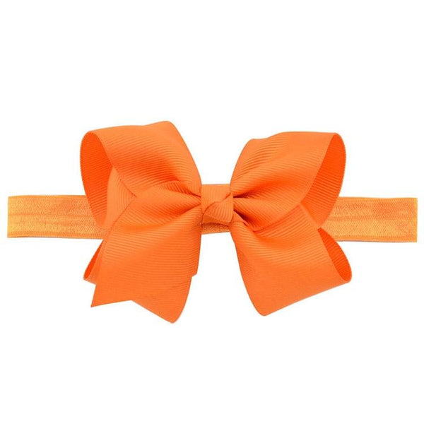 Baby Girls Large Bow Elastic Headband