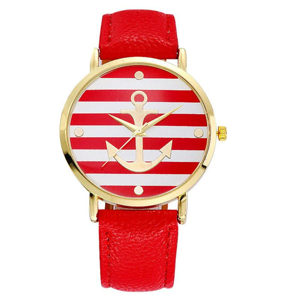 Nautical Leather Band Watch