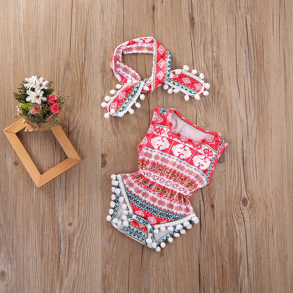 Baby Girls Tribal Romper Set