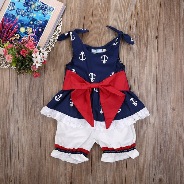 Baby Girls Anchor 2 Piece Set