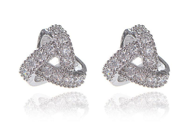 Twisted Crystal Stud Earrings