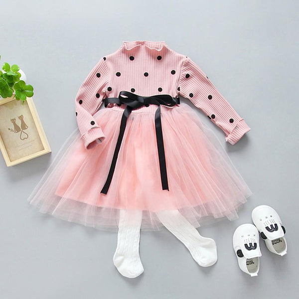 Girls Dotted Tutu Dress