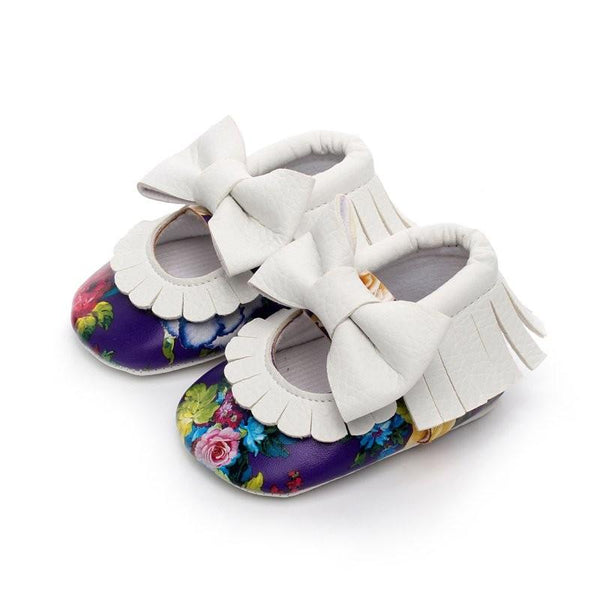 Baby Floral Moccasins