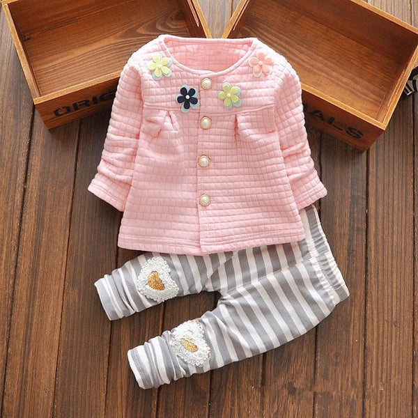 Kids Flower Sweater 2 Piece Set