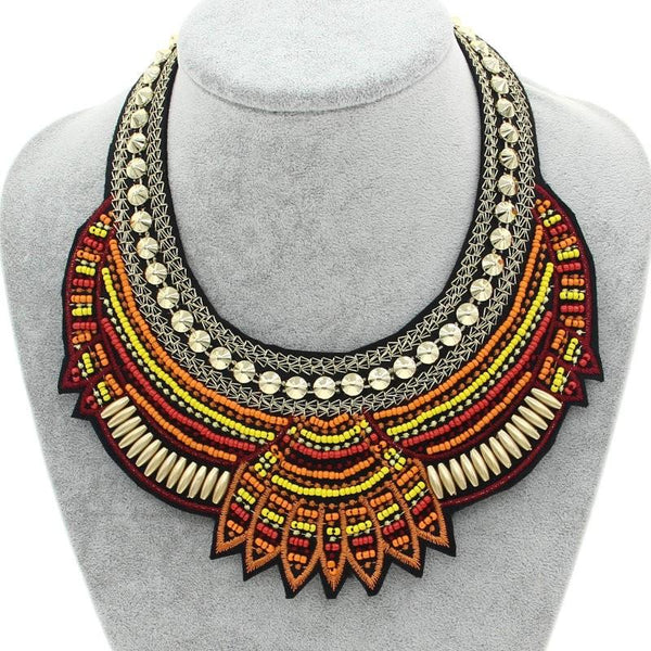 Boho Beaded Necklace