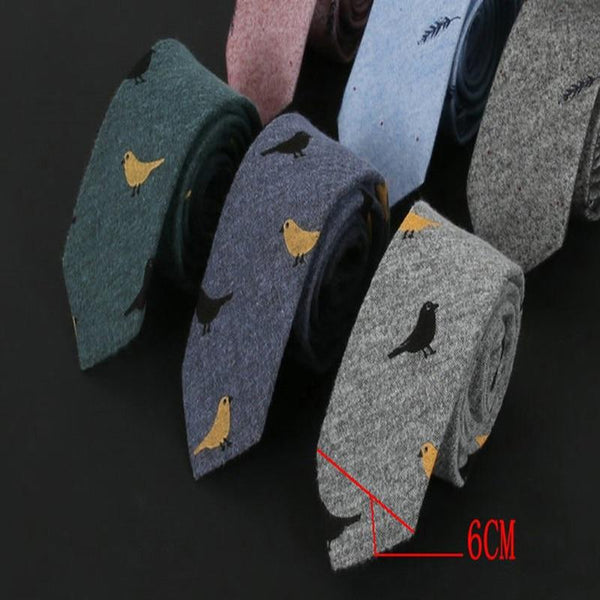 Men's Skinny Patterned Neckties