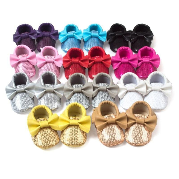 Baby Sequin Moccasins