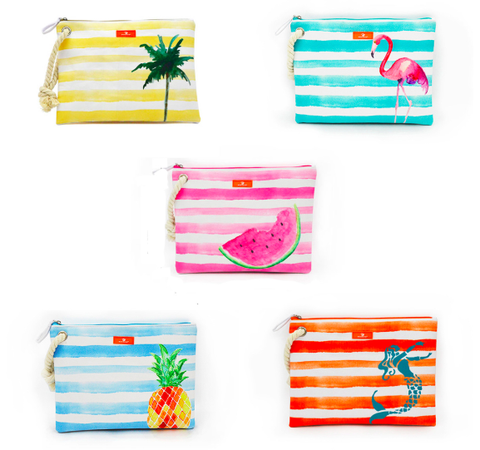 Watercolor Beach Clutch Bag
