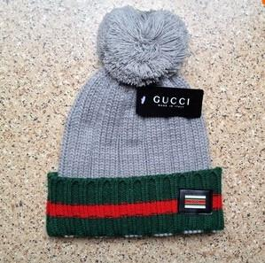 Gucci Knit Wool Web Hat (Grey)