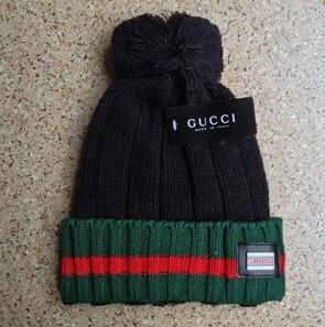 Gucci Knit Wool Web Hat (Black)