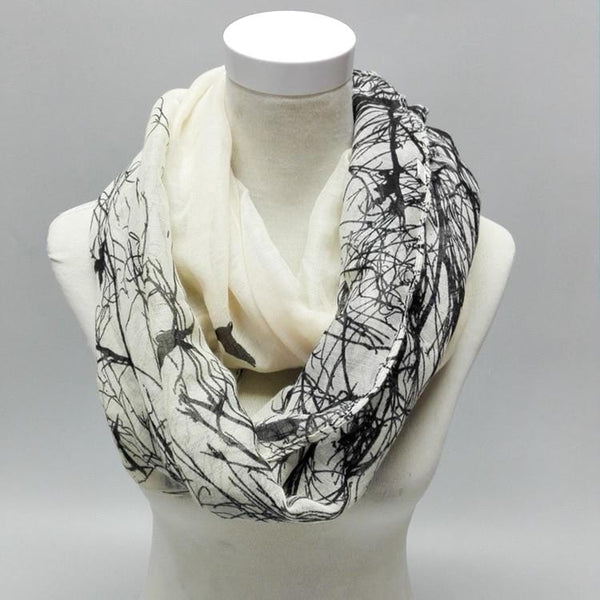 Nightingale Print Infinity Scarf
