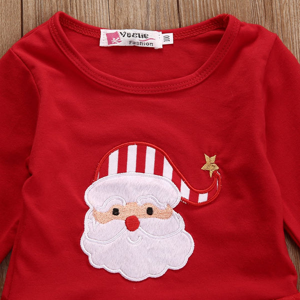 2 Piece Baby Stripe Santa Outfit