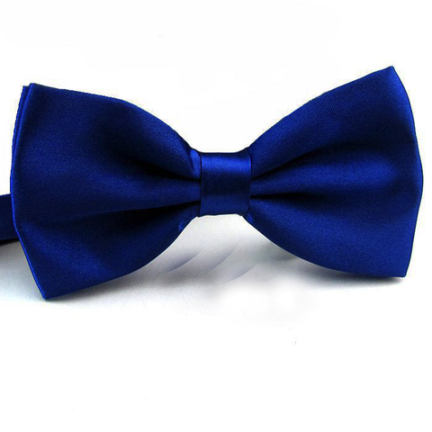 Royal Blue Satin Bow Tie