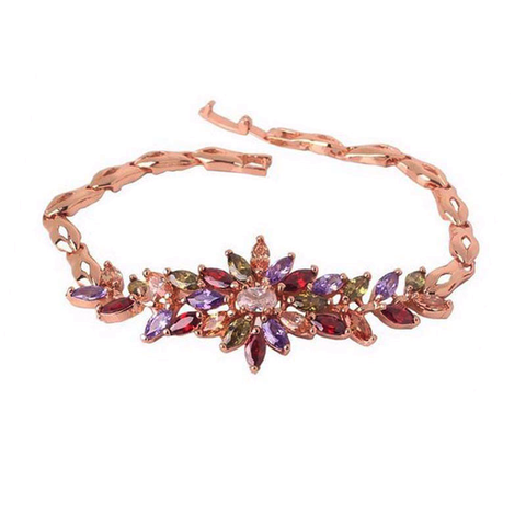 Gemstone Flower Bracelet