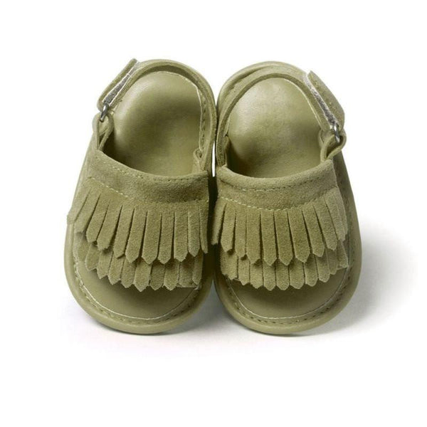 Leather Frill Baby Sandals - FREE OFFER