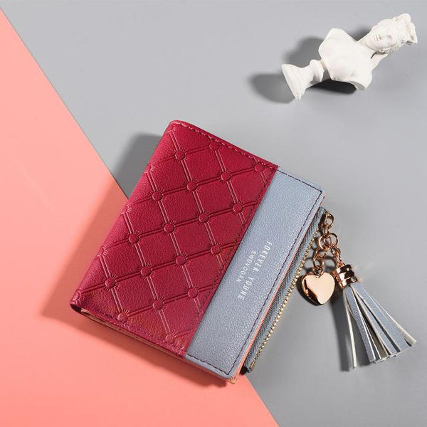 Women's Leather Tassel Wallet