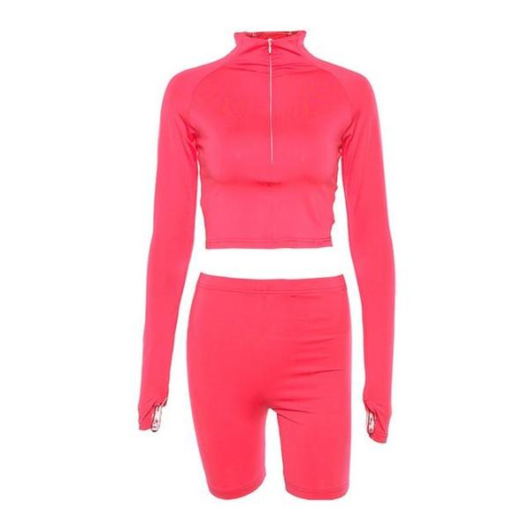 Women's Neon Two Piece Workout Set