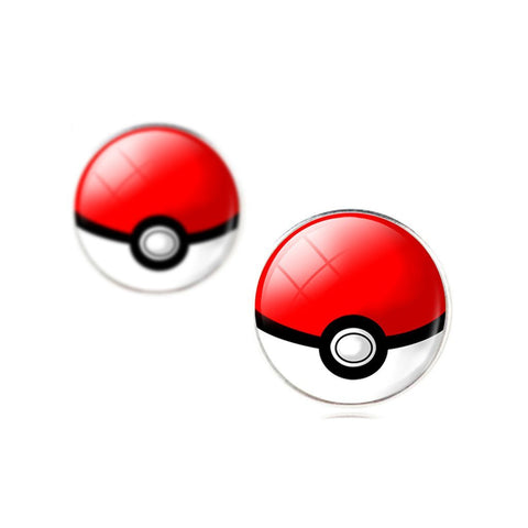 Poké Ball Stud Earrings