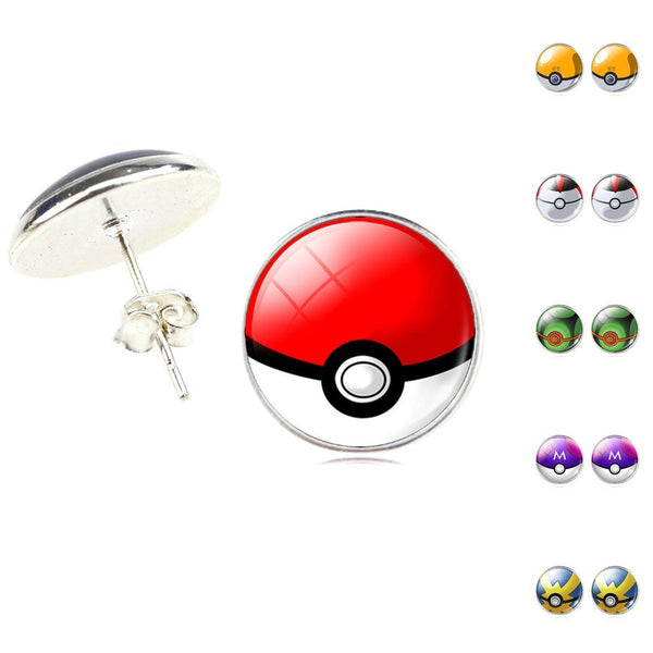 [FREE TODAY] Poké Ball Stud Earrings