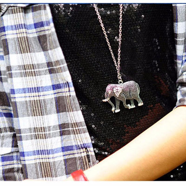 Vintage Lucky Elephant Necklace