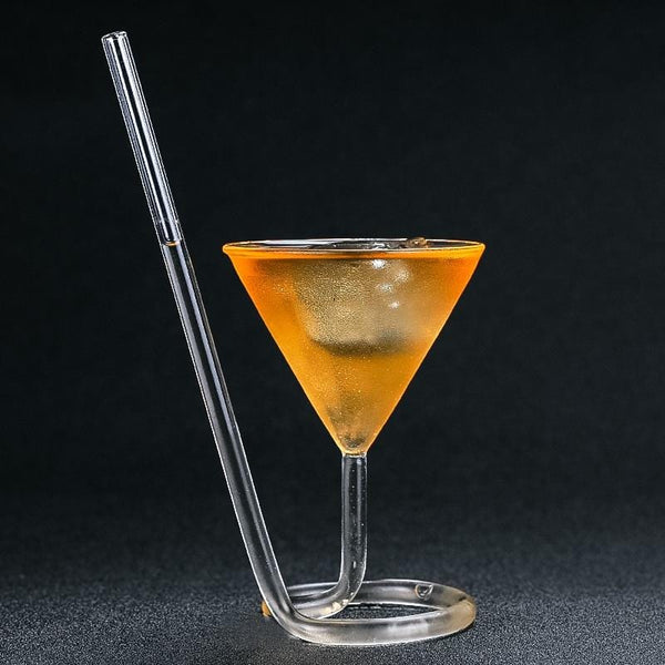 Spiral Straw Cocktail Glass
