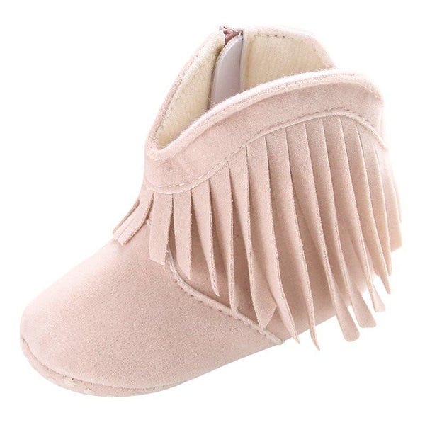 Suede Frill Baby Boots