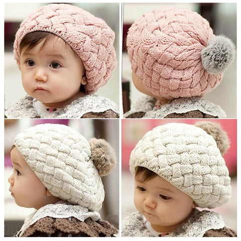 Baby Braided Slouch Beanie