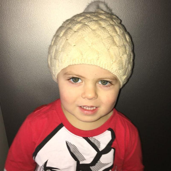 Braided Slouch Beanie for Babies/Toddlers