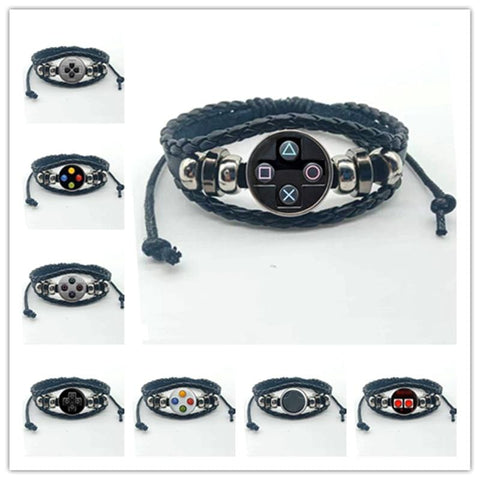 Game Controller Leather Bracelet