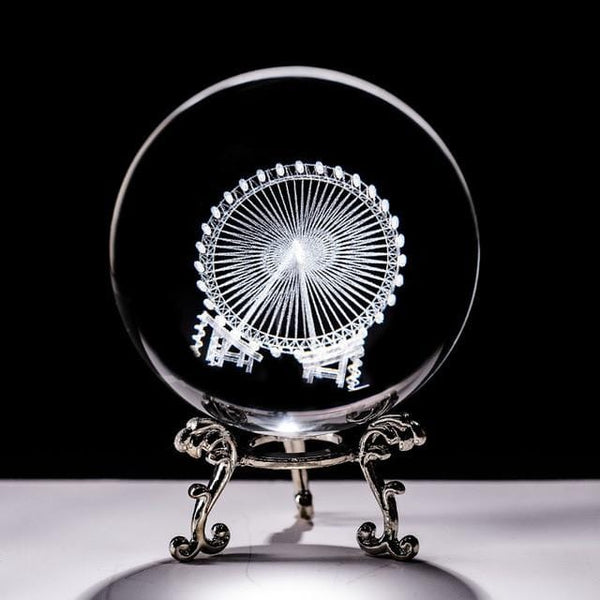 Crystal Ball Decor with Stand