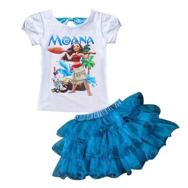 Girl's Disney Character 2 Piece Skirt Set