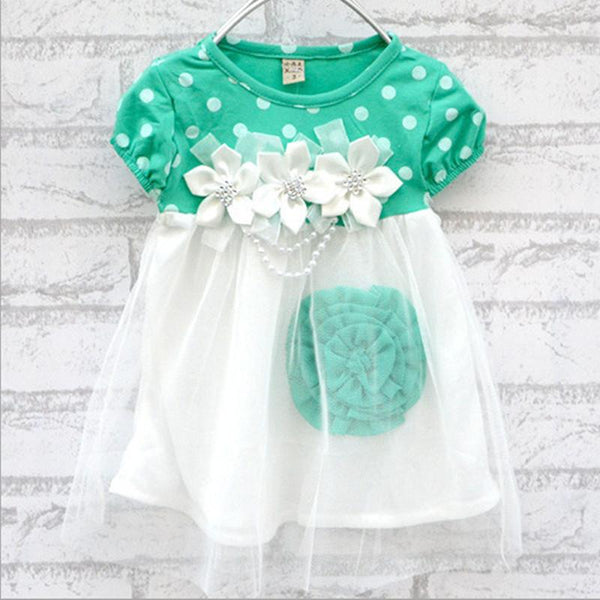 [FREE TODAY] Dotted Flower Dress for Baby Girls