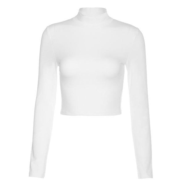 Women Longsleeve Backless Crop Top