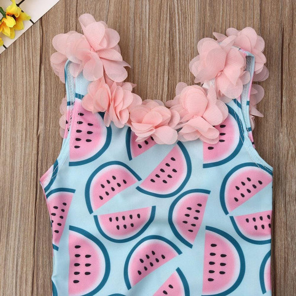 Girls Ruffle Melon One Piece Swimwear