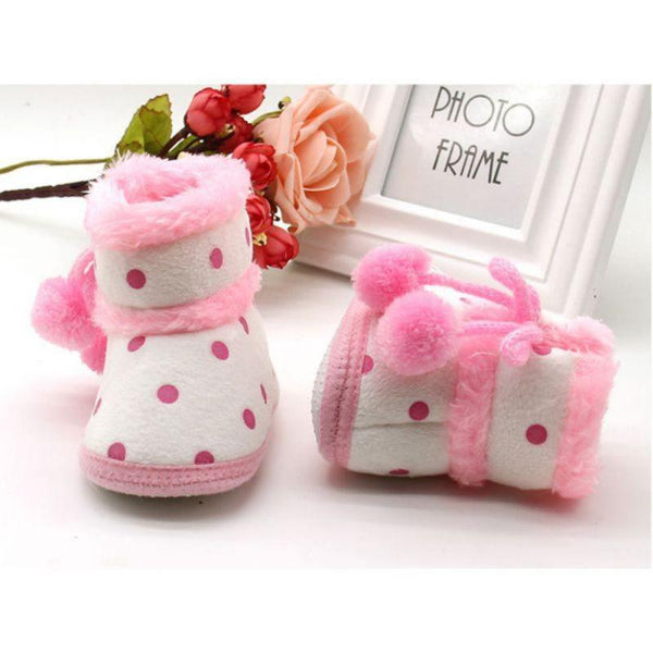 Baby Soft Bottom Pom Pom Boots