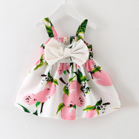 Fruit Print Dress for Baby Girls