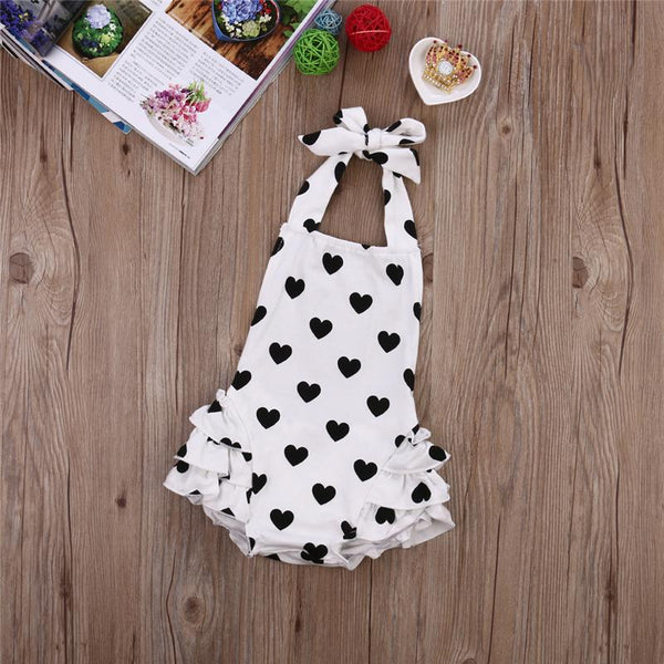 Baby Girls Heart Romper Set