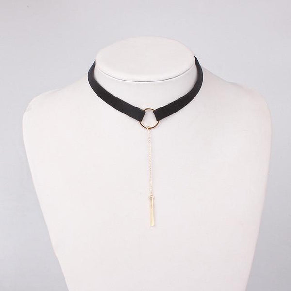 Velvet Pendant Choker Necklace